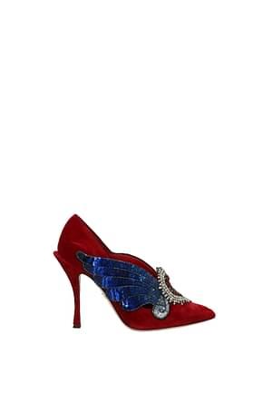 Dolce&Gabbana Pumps Women Velvet Red