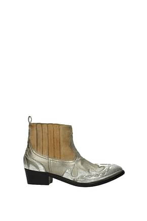 Golden Goose Ankle boots Women Leather Gold