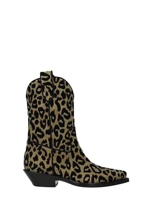 Dolce&Gabbana Ankle boots Women Fabric  Gold