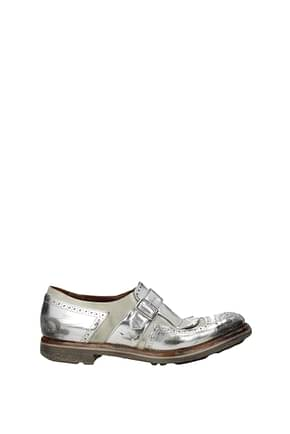 Church's Lace up and Monkstrap Women Leather Silver
