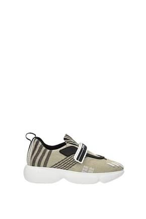 Prada Sneakers Damen Stoff Gold