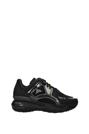Fendi Sneakers Men Leather Black