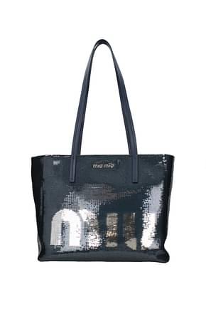 Miu Miu Shoulder bags Women Sequins Blue