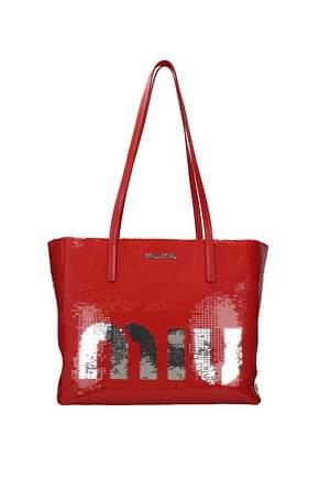 Miu Miu Shoulder bags Women Sequins Red