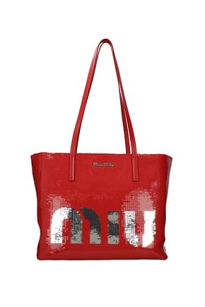 Miu Miu Shoulder bags Women Sequins Red