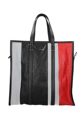 Balenciaga Handbags Men Leather Gray