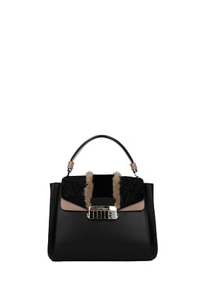 Bulgari Handbags Women Leather Black