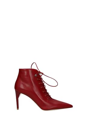 Miu Miu Ankle boots Women Leather Red