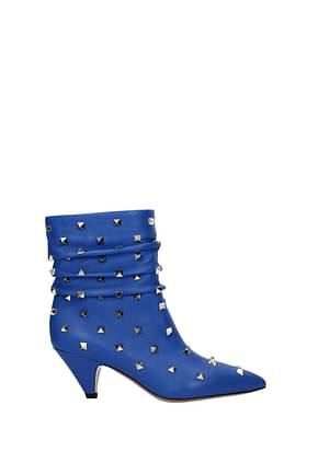 Valentino Garavani Ankle boots Women Leather Blue