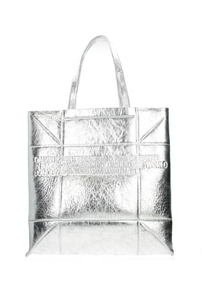Calvin Klein  Shoulder bags 205w39nyc Women Leather Silver
