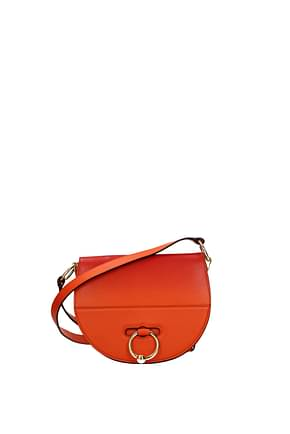 Jw Anderson Crossbody Bag Women Leather Orange