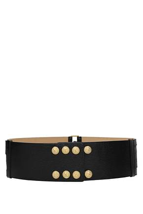 Balmain High-waist belts Women Leather Black