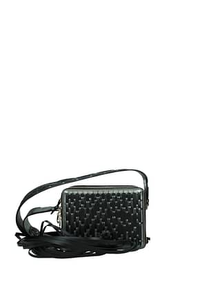 Lanvin Crossbody Bag Women Leather Gray
