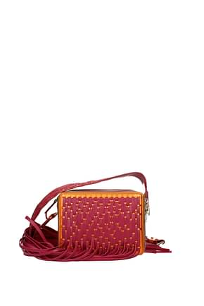 Lanvin Crossbody Bag Women Leather Orange