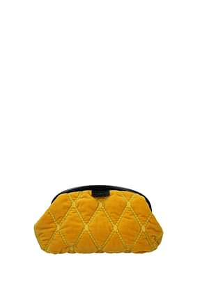 Ballantyne Clutches Women Velvet Yellow