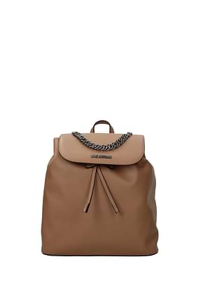 Love Moschino Backpacks and bumbags Women Polyurethane Beige