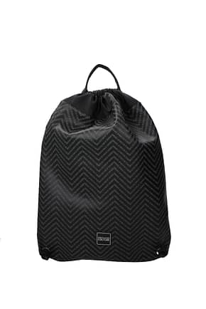 Versace Jeans Backpack and bumbags couture Men Polyester Black