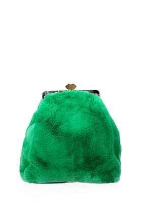 Marni Bolsos con bandolera Mujer Conejo Verde