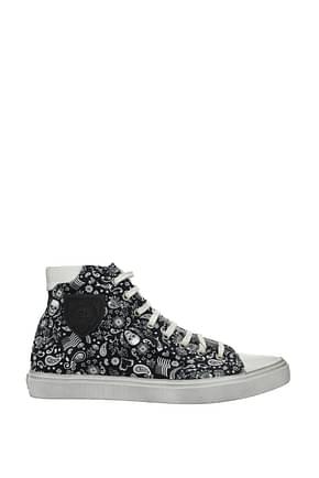 Saint Laurent Sneakers Men Fabric  Black