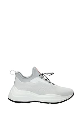 Prada Sneakers Women Fabric  White Aluminum