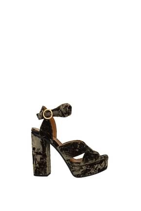 Chloé Sandals Women Velvet Brown