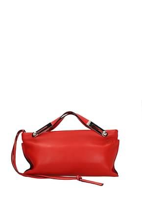Loewe Handtaschen missy Damen Leder Rot