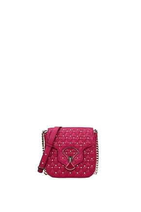 Bulgari Crossbody Bag Women Leather Fuchsia