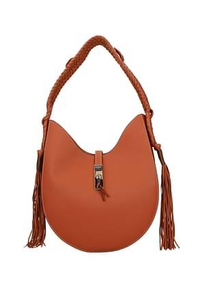 Altuzarra Shoulder bags ghianda hobo Women Leather Orange