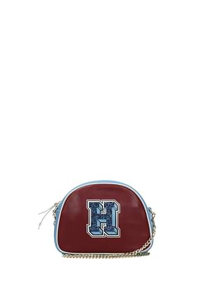 Tommy Hilfiger Crossbody Bag Women Leather Red