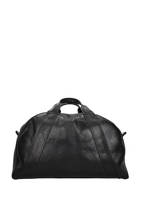 Golden Goose Travel Bags Men Leather Black