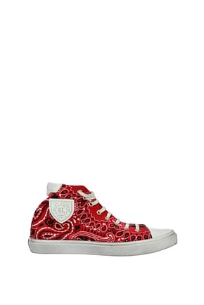 Saint Laurent Sneakers bedford Herren Stoff Rot