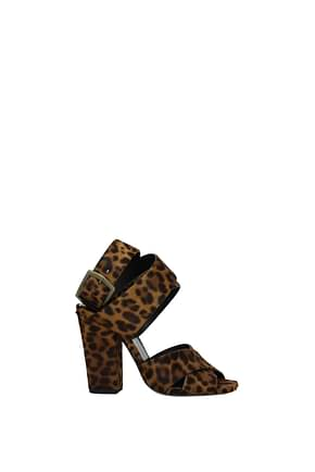 Sandals Saint Laurent oak Woman