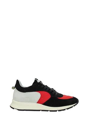 Philippe Model Sneakers montecarlo Uomo Camoscio Nero Rosso