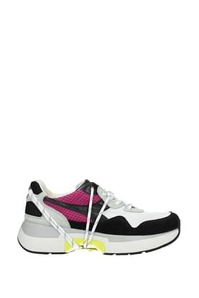 Diadora Heritage Sneakers txs h mesh Men Fabric  White Violet