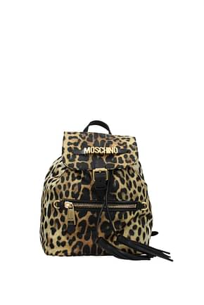 Moschino Backpacks and bumbags Women Fabric  Brown