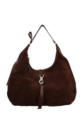 Miu Miu Shoulder bags Women Suede Brown
