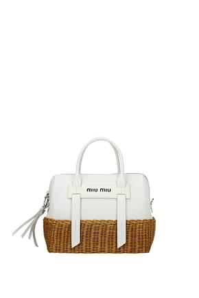 Miu Miu Handbags Women Leather White