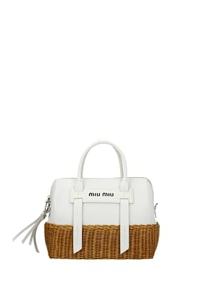 Miu Miu Handbags Women Leather White