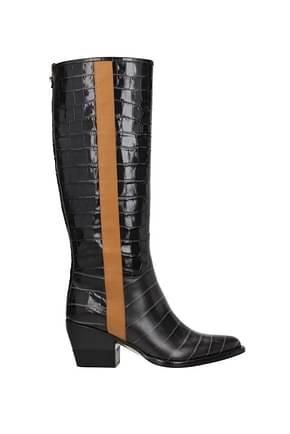 Chloé Boots Women Leather Black