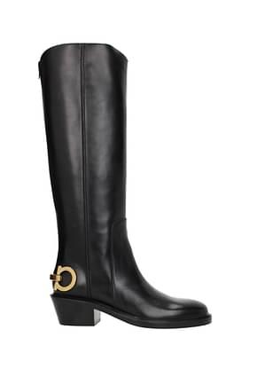 Salvatore Ferragamo Boots uda Women Leather Black