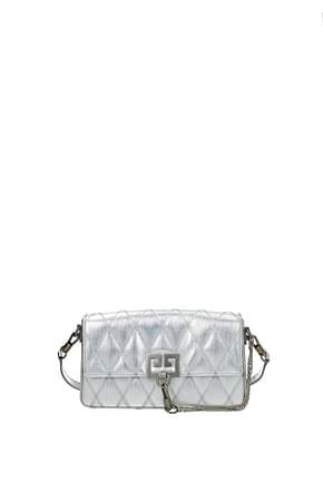 Givenchy Shoulder bags charm Women Fabric  Silver