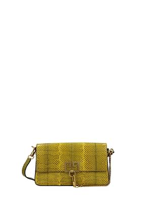 Givenchy Shoulder bags charm Women Leather Snake Yellow