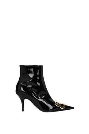 Balenciaga Ankle boots Women Patent Leather Black