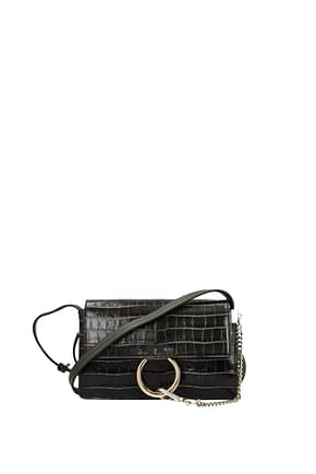 Chloé Crossbody Bag Women Leather Gray