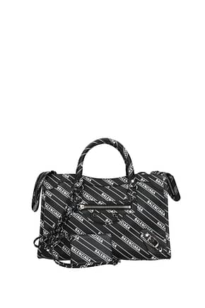 Balenciaga Handbags Women Leather Black