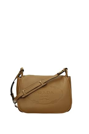Prada Crossbody Bag Women Leather Brown