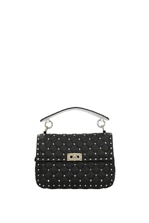 Valentino Garavani Handbags Women Leather Black White