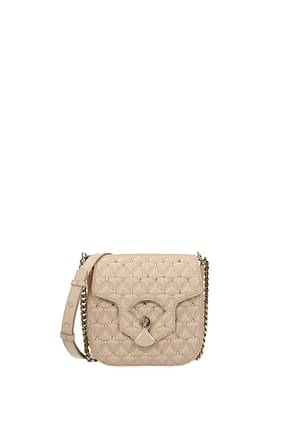 Bulgari Crossbody Bag Women Leather Pink