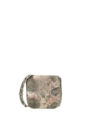 Bulgari Crossbody Bag diva's dream Women Leather Python Multicolor