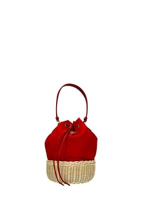 Prada Handbags Women Fabric  Red